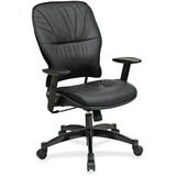 Office Star Space 2900 Leather Managerial Mid-Back Chair