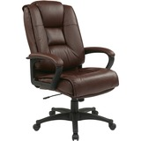 Office Star WorkSmart EX5162 Deluxe High Back Executive Leather Chair