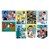 Pacon Community Workers Wood Puzzle Set - Picture Words