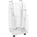 Safco 4 Compartments Wire Storage File - 4 Roll(s)