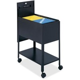 Safco Extra Deep Mobile Tub File - 300 lb Capacity - 4 x 2' Caster - Steel - 13.62' x 25' x 28' - Black