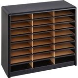 Safco 24 Compartments Value Sorter Literature Sorter 7111BL