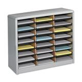 Safco 24 Compartments Value Sorter Literature Sorter - 7111GR