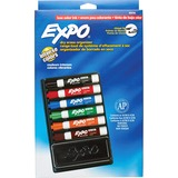 Sanford Expo II Dryerase Marker Organizers - Chisel Marker Point Style - Red Ink, Blue Ink, Green Ink, Orange Ink, Brown Ink, Black Ink - Assorted Barrel - 6 / Set