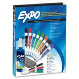 Sanford Expo Compact Dry Erase Marker Kit - Chisel Marker Point Style - Black Ink, Blue Ink, Red Ink, Green Ink, Yellow Ink, Orange Ink, Brown Ink, Purple Ink - 1  Each