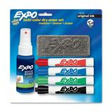 Sanford Expo Dry Erase Marker Kit - Chisel Marker Point Style - Black Ink, Red Ink, Blue Ink, Green Ink - 1  Set