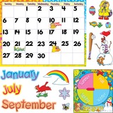 Trend Monthly Calendar Bulletin Board Set