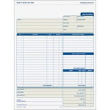 Tops Three Part Carbonless Job Invoice Forms - 3866