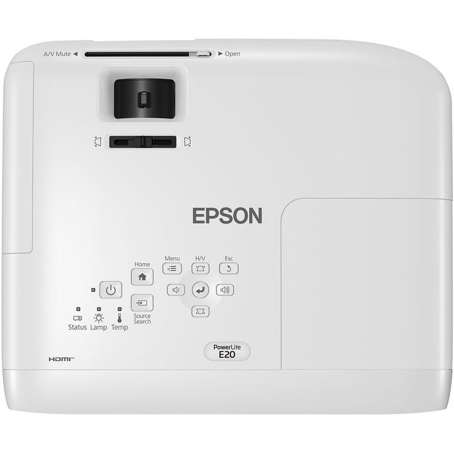 Epson PowerLite E20 LCD Projector - 4:3 - White_subImage_6