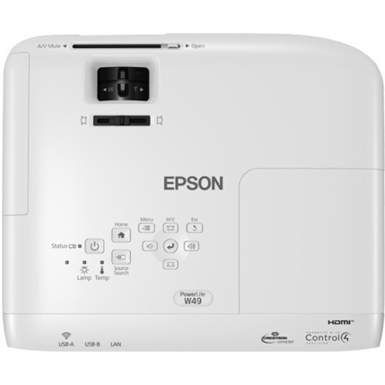 Epson PowerLite W49 LCD Projector - 16:10_subImage_4