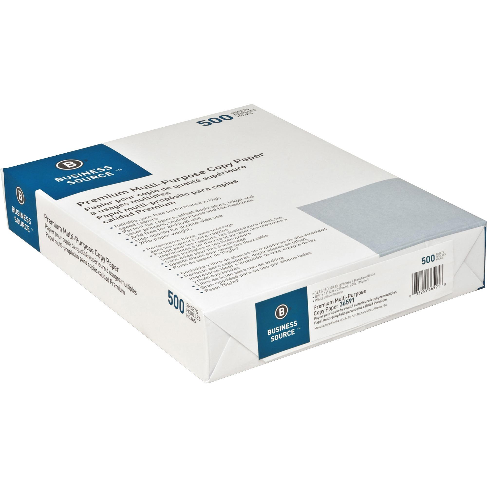 Business Source Premium Multipurpose Copy Paper