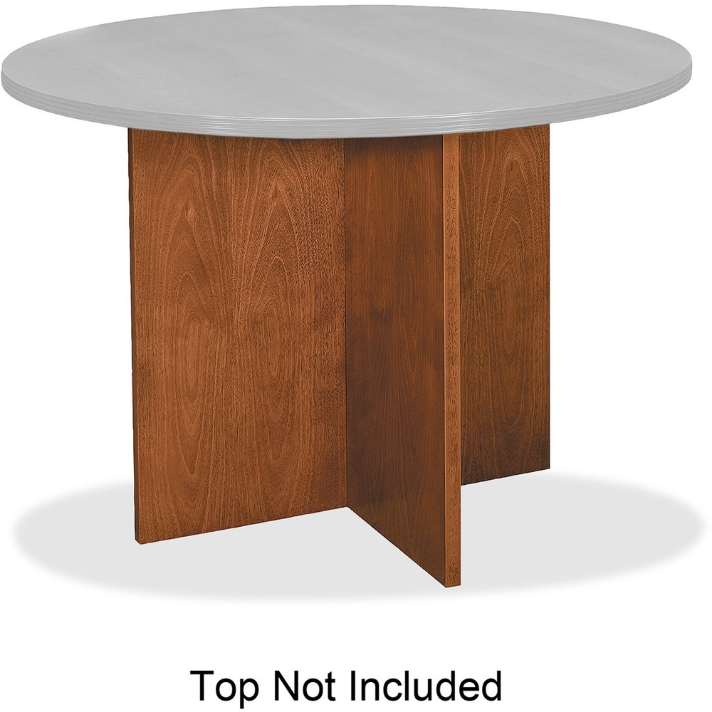Basyx By HON Veneer Round Conference Table Top With XBase - Hon round conference table
