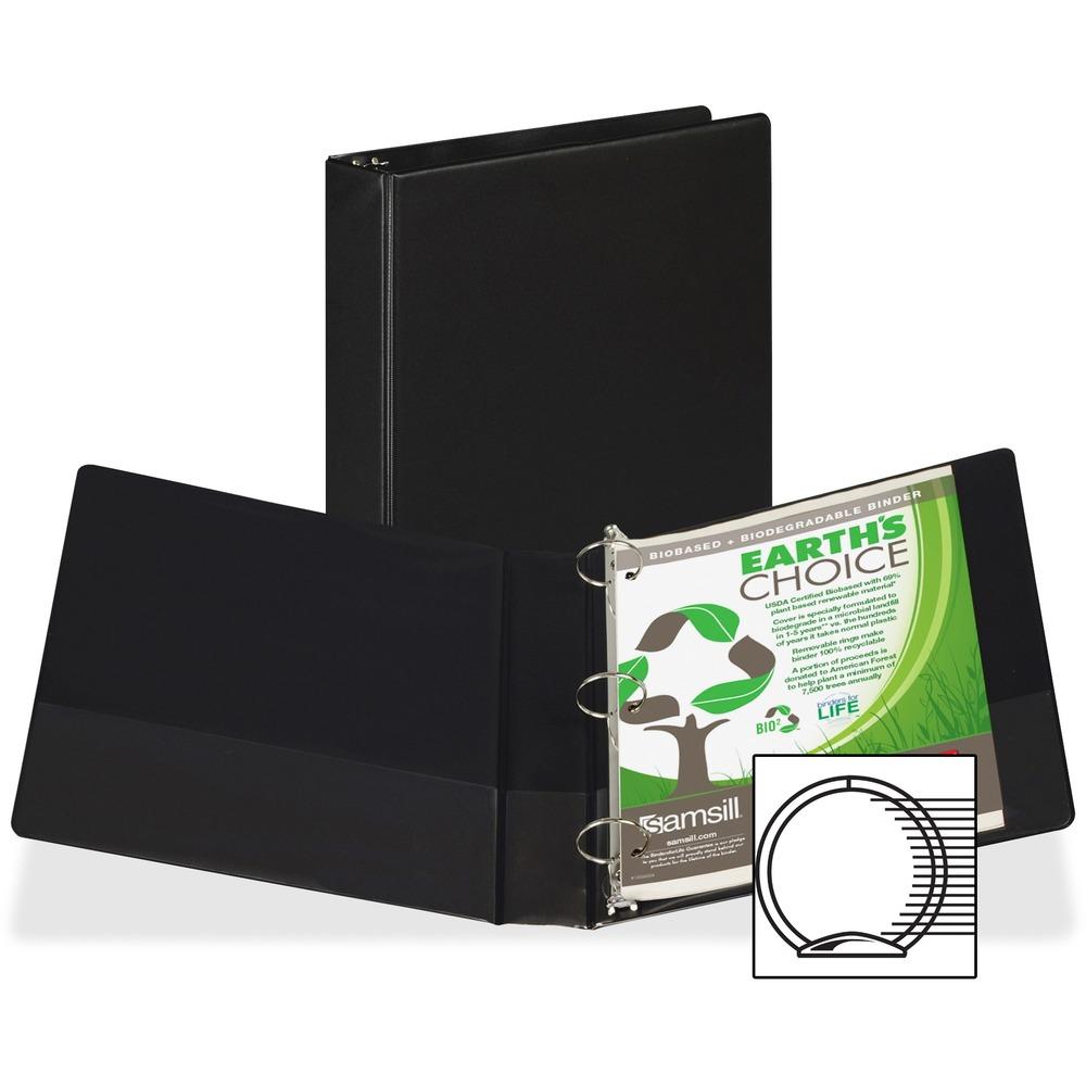 samsill round ring storage binder sam19950 supplygeeks com