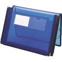 """Smead Poly Wallet, 2-1/4"""" Expansion, Flap and Cord Closure, Letter Size, Blue (71953)"""