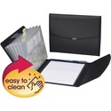 Smead Poly Pro Series II Pad Folio, 7-Pocket Expanding File, Letter Size, Black (85830)