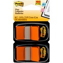 Post-it Flags 680-OE2, 1 in x 1.719 in (2.54 cm x 4.31 cm) Orange, 2-pk