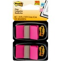 Post-it Flags 680-BP2, 1 in x 1.719 in (2.54 cm x 4.31 cm) Bright Pink, 2-pk