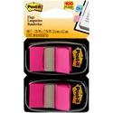 Post-it Flags 680-BP2, 1 in x 1.719 in (2.54 cm x 4.31 cm) Bright Pink, 2-pk