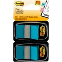 Post-it Flags 680-BE2, 1 in x 1.719 in (2.54 cm x 4.31 cm) Blue, 2-pack