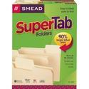 Smead SuperTab? File Folder, Oversized 1/3-Cut Tab, Letter Size, Manila, 100 Per Box (10301)