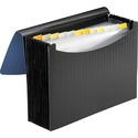 Smead Poly Expanding File, 12 Pockets, Flap and Cord Closure, Letter Size, Blue/Black ( 70863)