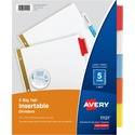 Avery WorkSaver Big Tab Insertable Dividers 11121, 5-Tab Set
