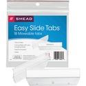 Smead Easy Slide? Tab, 1/3-Cut, Clear, 18 Per Pack (64626)