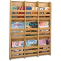 Safco 9-Pocket Bamboo Magazine Wall Rack