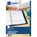 Avery Monthly/Weekly Calendar Refill Pages