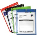 C-Line Products Heavy Duty Super Heavyweight Plus Stitched Shop Ticket Holder, Assorted, 9x12, 20/BX