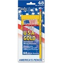 The Write Dudes USA Gold American Wood Pencils