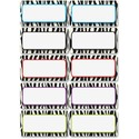 Ashley Zebra Print DryErase Nameplate Magnet
