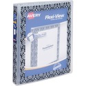 Avery® Damask Border Flexi-View Round Ring Binder