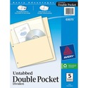 Avery Untabbed Double Pocket Divider