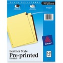 Avery Leather Daily Tab Index Divider