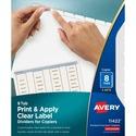 Avery Index Maker Copier Clear Label Divider