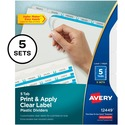 Avery Index Maker Easy Apply Clear Label Divider