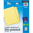 Avery Monthly Copper Reinforced Laminated Tab Divider
