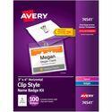 Avery Laser/Inkjet Clip Style Name Tag Kit