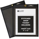 C-Line Stitched Shop Ticket Holders with Black Backing