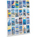 Safco 24 Pamphlet Pockets Display Rack