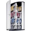 Durable 72-Key Brushed Aluminum Key Cabinet