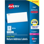 Avery Easy Peel Address Label AVE5167-BULK