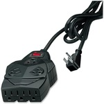 Fellowes 8-outlet surge protection. With 6' cord, space for up to 5 AC adapters. FEL99090