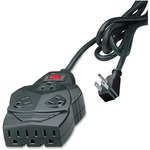Fellowes 8-outlet surge protection. With 6' cord, space for up to 5 AC adapters. FEL99091