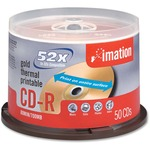 Imation CD Recordable Media - CD-R - 52x - 700 MB - 50 Pack Spindle IMN17300