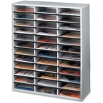 Fellowes Literature Organizer - 36 Compartment, Letter, Dove Gray FEL25061