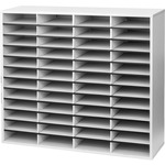 Fellowes Literature Organizer - 48 Compartment, Letter, Dove Gray FEL25081