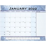 At-A-Glance Marble Look Slate Blue Desk Pad Calendar AAG89701