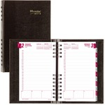 Rediform Hard-Cover CoilPro Daily Planner REDCB634CBLK